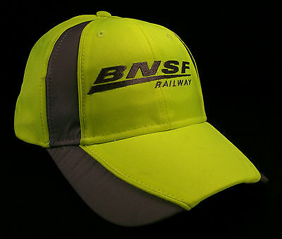 BNSF Railway Railroad Neon Reflective Embroidered Cap Hat #40-0048SY