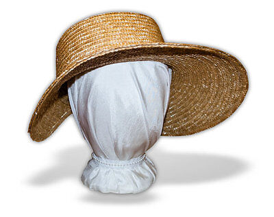 Jane Austen Late Georgian Early Regency Straw Bonnet: Plain from Austentation