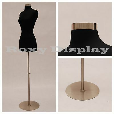 Size 2-4 Female Mannequin Dress Form+ Chrome Metal Round Base #FWPB-4 +  BS-04