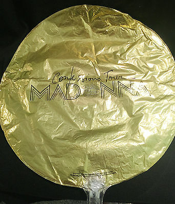 Madonna Confessions Tour Mylar balloon dropped at concert plus Tshirt w/tin