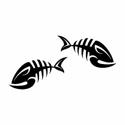 FISH BONE DECAL for car ute boat fishing skeleton vinyl sticker REMOVABLE