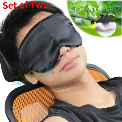 100% Pure Silk Sleep Mask Aid Sleeping Eye Masks Blind Lights Soft Adjustable