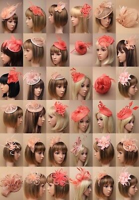 Stylish Fascinator Skin,  Natural, Peach, Cheapest Ebay, Wedding Races Hat Lot