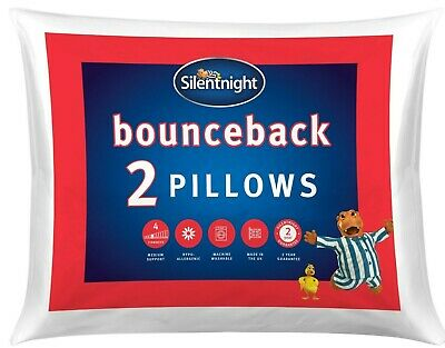 Silentnight Non - Allergenic Super Bounce Back Hollowfibre Pillow - 2 Pack