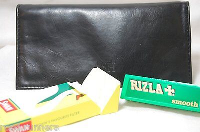 Tobacco Pouch With RIZLA & SWAN EXTRA SLIM TIPS 17cm X 17cm + 4 Compartments N97