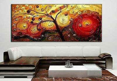 Large Modern Abstract Art Handmade Oil Painting Set Wall Decor On Canv No Frames