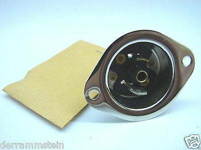 Arrow Hart 6486 Midget Hart-Lock Flanged Inlet Flush Base 125V 15A 3-Wire Grd t1