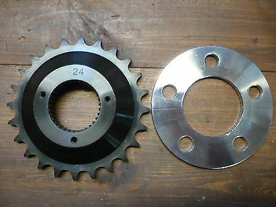 TRANSMISSION SPROCKET OFFSET 24T, HARLEY-DAVIDSON SOFTAIL/FXR WITH 5mm SPACER