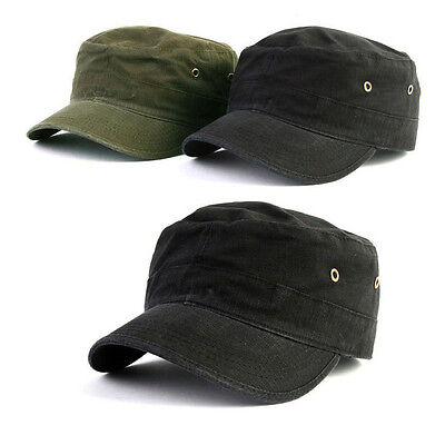 XXL 2XL 62~63Cm Fitted Unisex Mens Womens Cotton Army Military Cap Cadet Hats