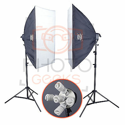 Continuous Lighting Softbox Studio Kit - Photography Photo Set 2 Daylight Video