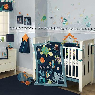 Bubbles & Squirt 5 Piece Baby Crib Bedding Set by Lambs & Ivy