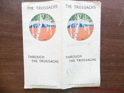 1930 Trossachs Scotland Pictorial Map Timetable Brochure London Midland Scottish