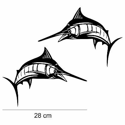 Marlin Fish Swordfish Decal, boat fishing vinyl sticker REMOVABLE - S