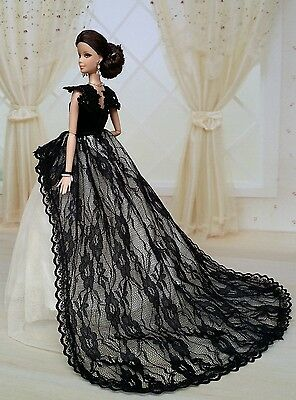 Fashion Royalty Princess Party Dress/Clothes/Gown For Barbie Doll S152