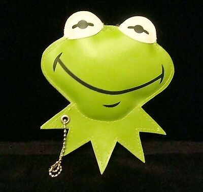 KERMIT THE FROG LUGGAGE ID TAG Muppet Jim Henson CARLTON CARDS Vinyl