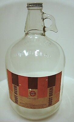 Vintage 1960's A&W Root Beer One 1 Gallon Glass Jug Syrup A and W