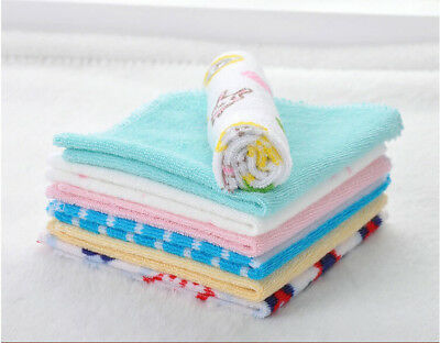 8 baby newborn wash cloth bath feeding towel Cotton wipe mixed color 23*23cm