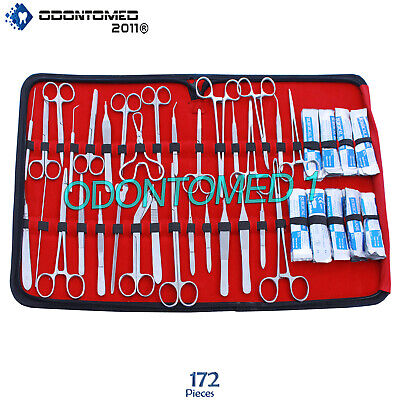 172 Pc Us Military Field Minor Surgery Veterinary Dental Instrument Kit Ds-1103