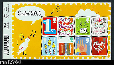 2015 SMILERS New Designs Mini Sheet with Barcode Margin, Mint  SG MS3678