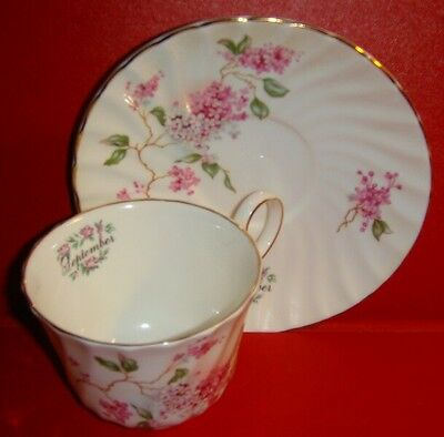 Lefton Fine Bone China September Cup and Saucer