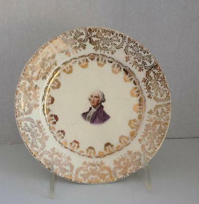 DERWOOD W.S.GEORGE    22 KT. GOLD TRIM  WASHINGTON PLATE