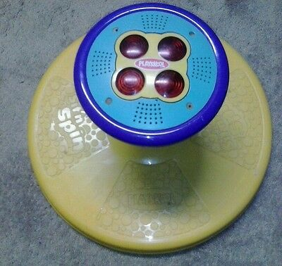 Vintage PLAYSKOOL SIT N SPIN LIGHTS AND SOUND TONKA 1973, YELLOW