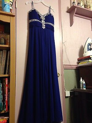 Davids Bridal Bridesmaidparty Dress Royal Blue 2499 Picclick