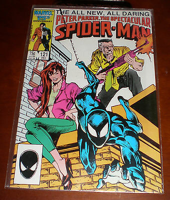 Peter Parker as The Spectacular Spider-Man DEC 1986 #121 by Marvel Comics