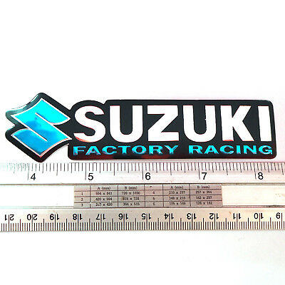 SUZUKI Motor Cycles Bike Sticker Reflect Light Decal BG 2.25x3/""