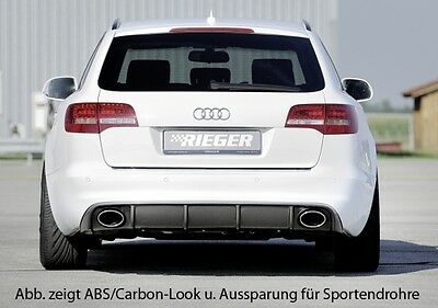Audi A6 RS6 Heck 4F Facelift inkl. Endrohrblenden schwarz glanz   RIEGER-Tuning
