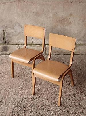 12 AVAILABLE Vintage Children's Stacking Stackable Mid Century School Chairs