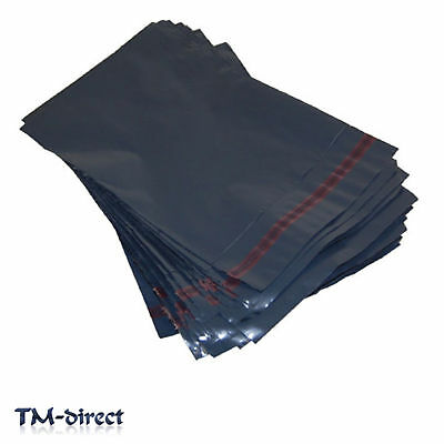 Strong 12x16 Grey Plastic Mailing Post Poly Postage Bags Packaging Self Seal