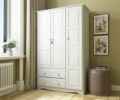 100% Solid Wood Grand Wardrobe/Armoire/Closet by Palace Imports, 3 Colors