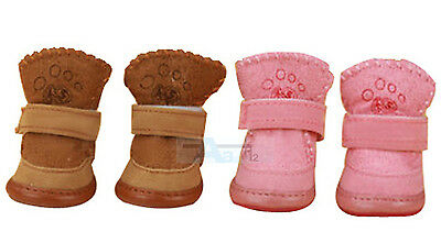 New Warm Winter Cozy Pet Dog Chihuahua Boots Puppy Shoes For Small Dog Size S M