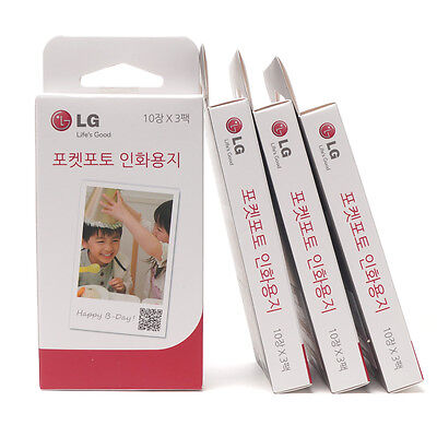 LG Portable Mobile Pocket Photo Printer Paper Total 120 Sheets for PD221 PD239