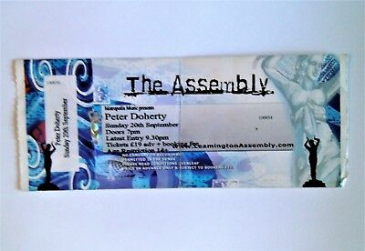 RARE PETER DOHERTY MEMORABILIA - Ticket Stub Leamington Spa Assembly 20/09/09