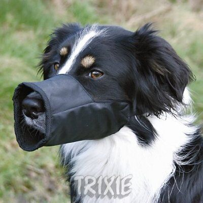 Adjustable Nylon Dog Muzzle in Black, Medium by Trixie (1923)