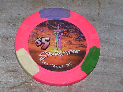 $5 Chip From The Stratosphere Casino Las Vegas Nv