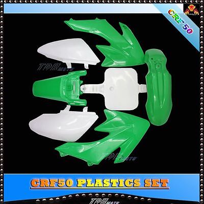 For CRF 50 GREEN PLASTICS + STICKERS SET PIT BIKE 50/70/90/110/125CC for ATOMIK