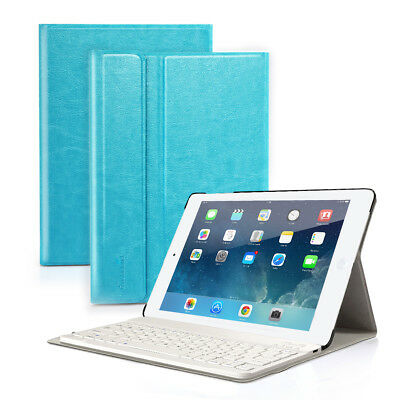 Detachable Bluetooth Keyboard With PU Leather Case Cover For Apple iPad 4 3 2