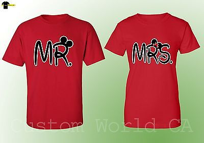 fde8041ef3 NEW MR & Mrs his Hers Husband and Wife Couple Matching Shirts (Red ...