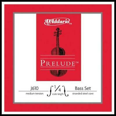 D'Addario Prelude Double Bass String Set 1/4 Scale, Medium Tension GDAE strings