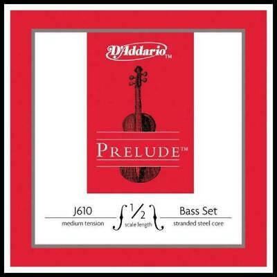 D'Addario Prelude Double Bass String Set 1/2  Scale, Medium Tension GDAE strings