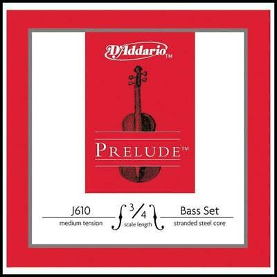 D'Addario Prelude Double Bass String Set 3/4 Scale, Medium Tension GDAE strings
