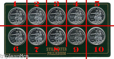2004 Stillwater Palladium 1/10 ounce Buffalo / Lewis & Clark   (4 available)