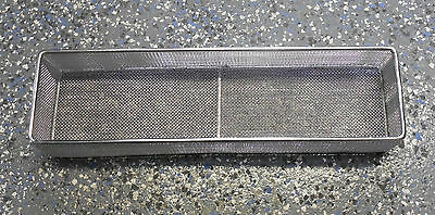 "Basket, parts washing,  ~14""x4""x2.5"", no lid, stainless, Parts washing, 5004337"