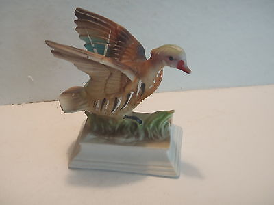 Vintage NAPCO Wood Duck Figurine - Wings out