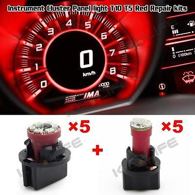 PC74 & PC194 Red Instrument Panel Dash LED Bulb Light Lamp 74 194 168 W5W