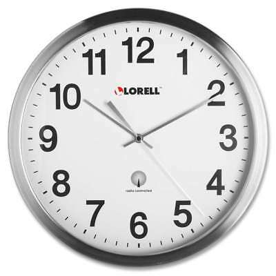 Lorell Brushed Nickel Plated Atomic Wall Clock, Chrome - LLR61001