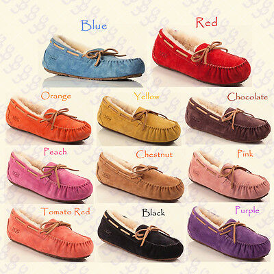 OZLANA Australian wool Moccasins indoor/outdoor Slipper shoes for Women/Ladies